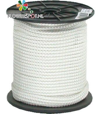 Touw wit nylon   6 mm.  100 mtr.  p/ rol
