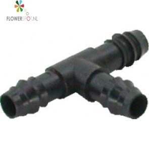 Pp t-stuk   12,5mm. tbv tuinslang 1/2