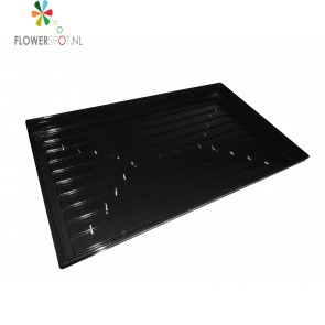 Plugtray zwart plastic open tbv 84 st. 4x4cm stekblok