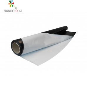 Zwart / wit folie  op rol 2x25 mtr. dikte 70 mu