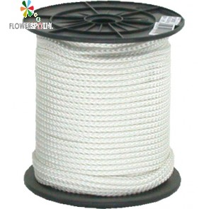 Touw wit nylon   6 mm.  100 mtr.  p/ rol