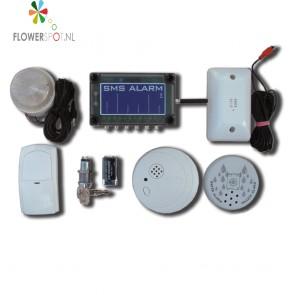 Sms com  alarm basic  1x bewegingmeld,  1x magneetcon.