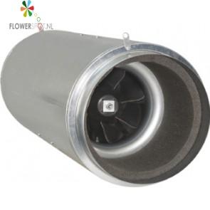 Iso-max buisventilator 200ø 920m³ 3 standen gedempt