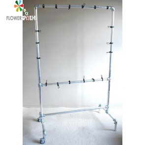 Mobiel aluminium frame t.b.v. 2 x eetbare wand® met twintig pockets