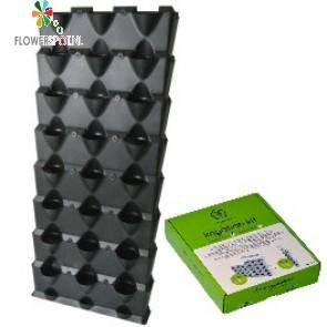 Minigarden vertical, 8 lagen inclusief irrigatiesysteem, zwart (144 x 63 x 13 cm)