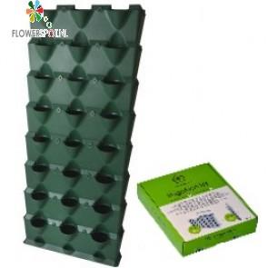 Minigarden vertical, 8 lagen inclusief irrigatiesysteem, groen (144 x 63 x 13 cm)