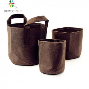 Root pouch boxer brown met handvat 56 ltr
