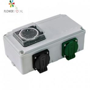 Schakelkast dv 12-k 2x600 of 2x400watt (6a) (incl. kachelcontact)
